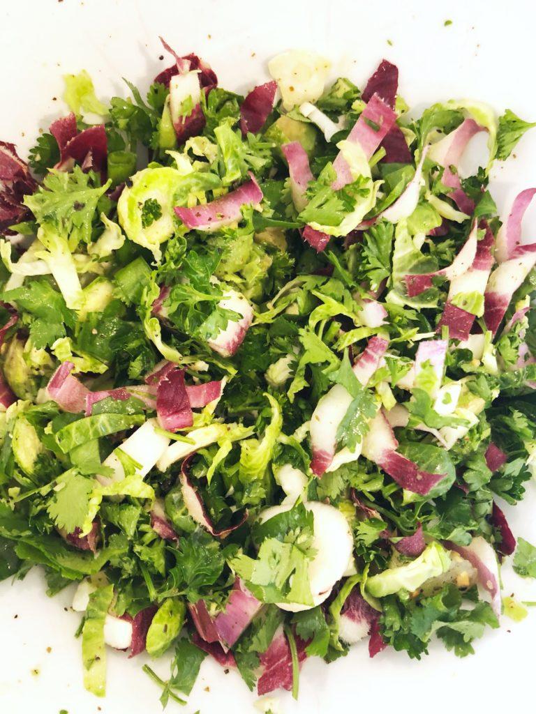 endive, herb, salad