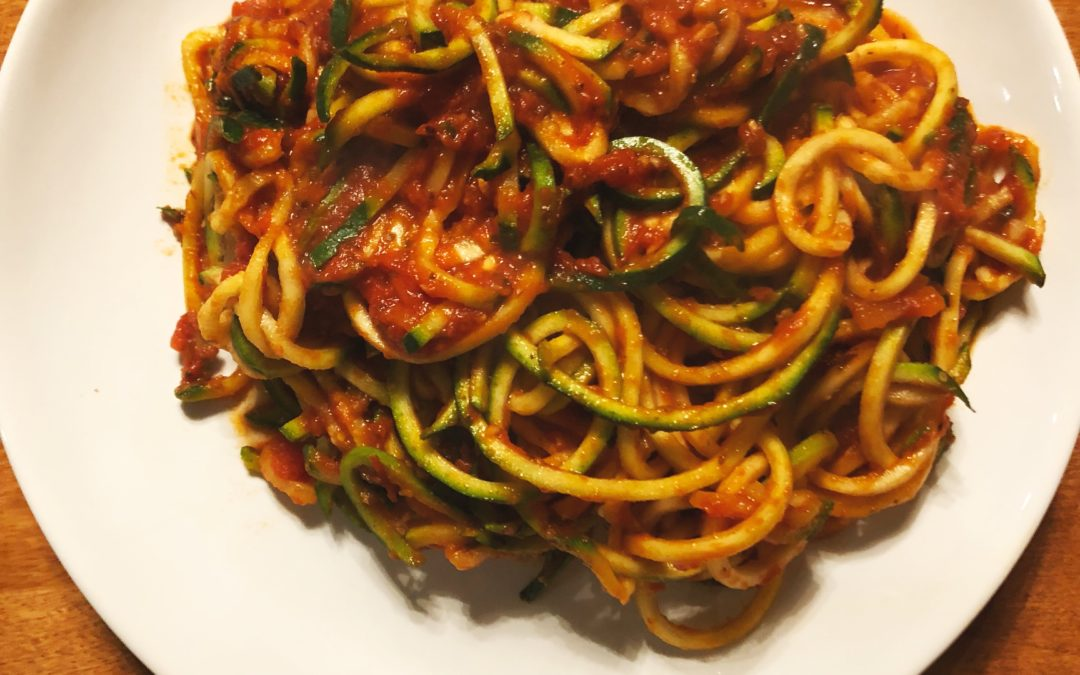 Zoodles with Spaghetti Sauce